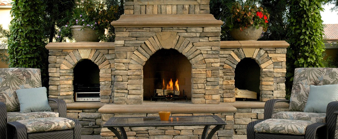 Fireplace. Outdoor Fireplaces