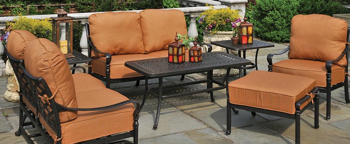 Patio Center Metal Wooden Wicker Furniture Tables Hammocks Umbrellas ...