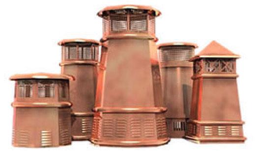 Chimney Pots Clay Copper Exterior Detailing | East Texas Brick | Tyler