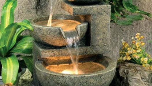 Water Fountains Features Garden Pots