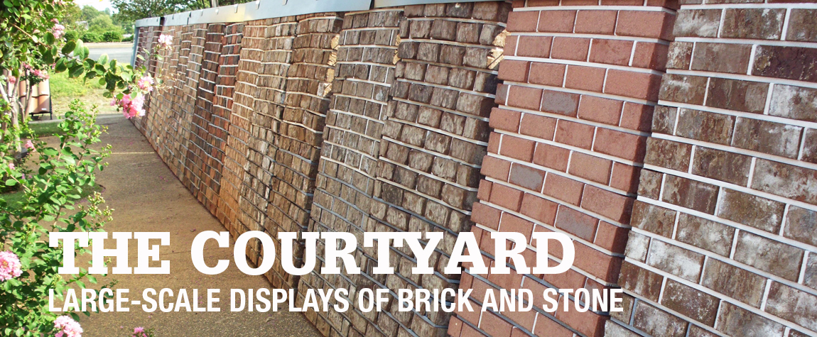 Large-Scale Displays of Brick and Stone