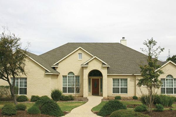 Residential Brick - white buff gray