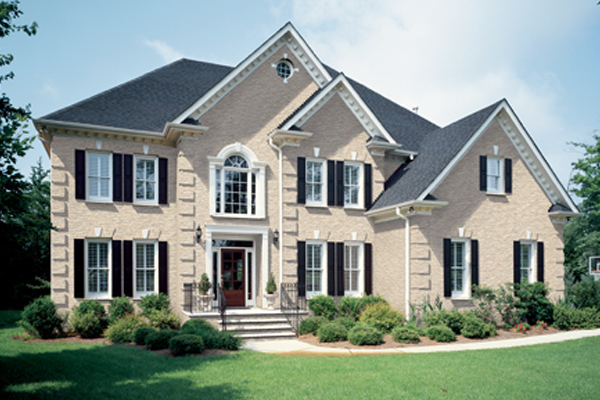 Residential Brick - white buff gray