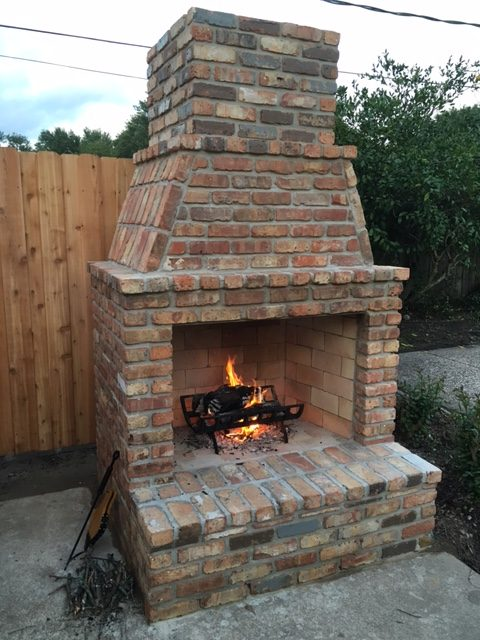Mason-Lite Outdoor Fireplace