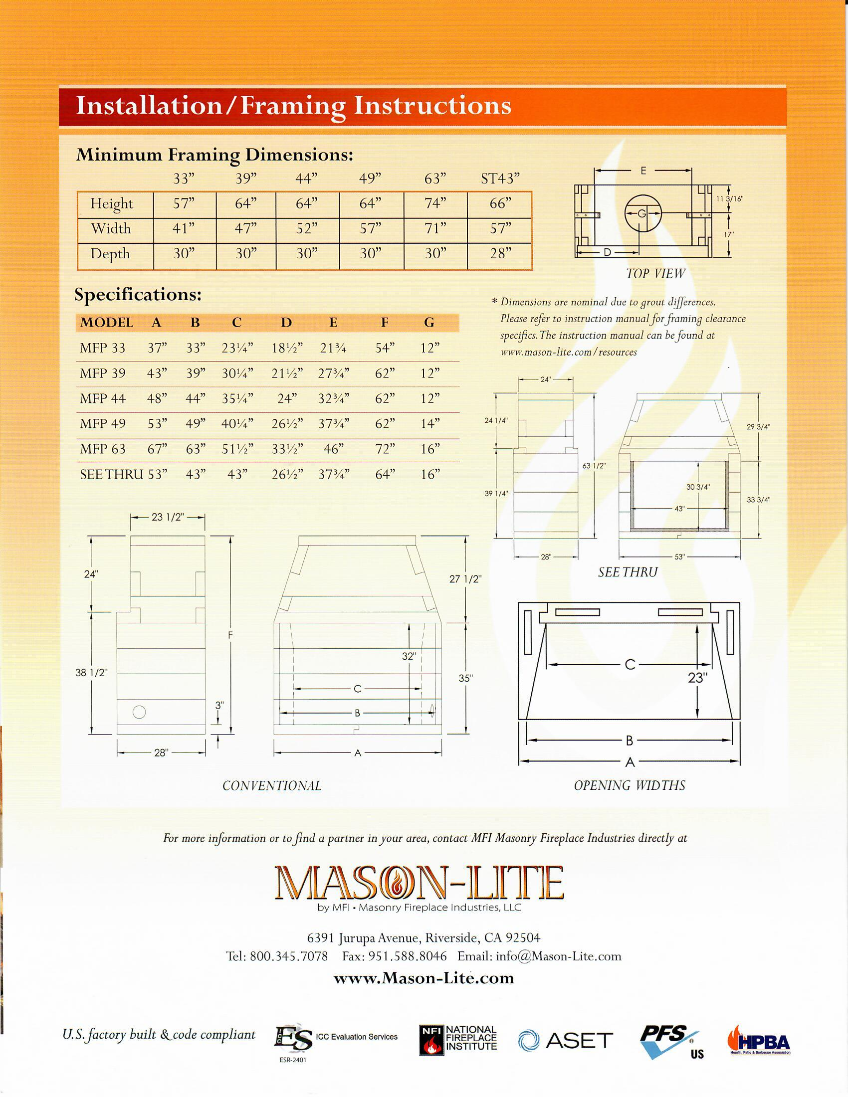 Mason-Lite Information Sheet