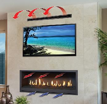 CoolSmart TV Wall for Fireplace Xtrordinair Series